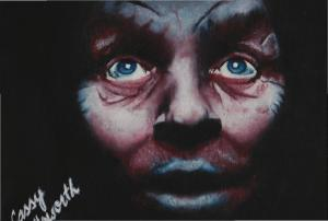 New Painting Of Anthony Hopkins Oil Painting By Cassandra Allsworth