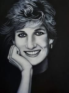 Diana Portrait Painting
